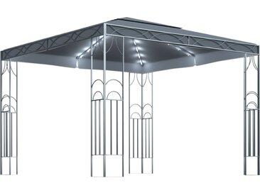 Tonnelle avec guirlande lumineuse 300x300 cm Anthracite - vidaXL