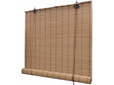 Store roulant en bambou 140 x 220 cm Marron - vidaXL