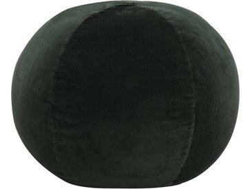 Pouf Velours de coton 50 x 35 cm Vert - vidaXL