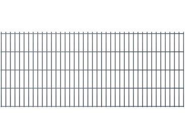 Panneaux de clôture de jardin 2D 2,008x0,83 m 8 m total Gris - vidaXL