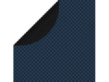 Film solaire de piscine flottant PE 417 cm Noir et bleu - vidaXL