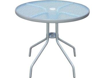 Table de bistro Gris 80x71 cm Acier - vidaXL