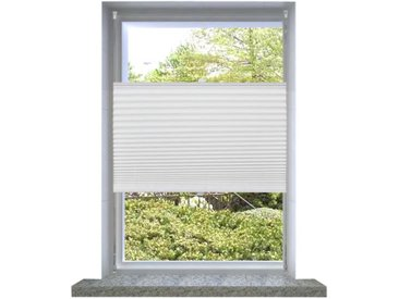 Store plissé 110x200 cm Blanc  - vidaXL