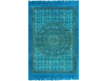 Tapis Kilim Coton 160 x 230 cm avec motif Turquoise - vidaXL