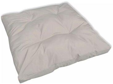 Coussin de siège  80 x 80 x 10 cm Sable blanc - vidaXL