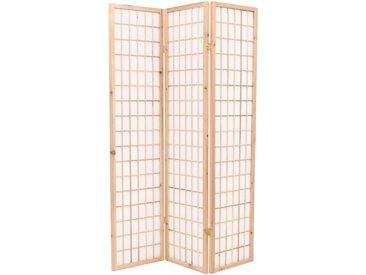 Cloison de séparation 3 panneaux Style Japon 120x170 cm Naturel - vidaXL