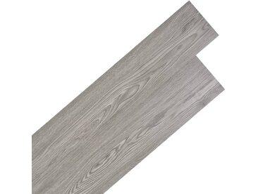 Planche de plancher PVC autoadhésif 5,02 m² 2 mm Gris foncé - vidaXL