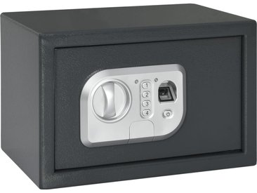 Coffre-fort numérique Empreinte digitale Gris foncé 31x20x20 cm - vidaXL