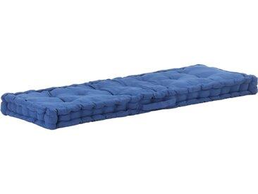Coussin de plancher de palette Coton 120x40x7 cm Bleu clair - vidaXL