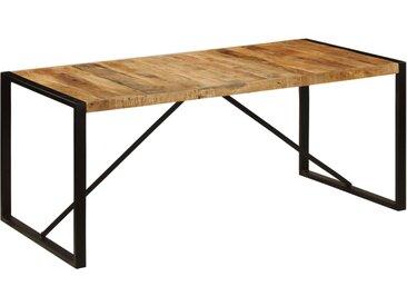 Table de salle à manger Bois de manguier brut 180 cm - vidaXL