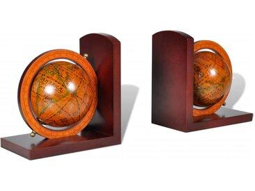 Serre-livre Globe 2 pcs - vidaXL
