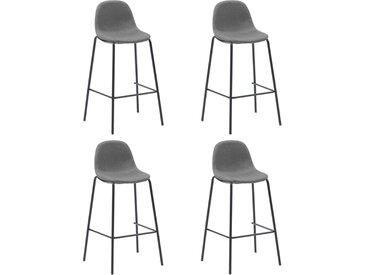 Chaises de bar 4 pcs Taupe Tissu - vidaXL