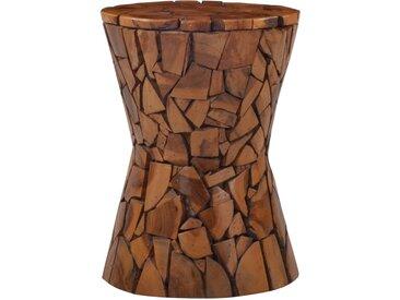 Tabouret Mosaïque Marron 30 x 42 cm Bois de teck - vidaXL