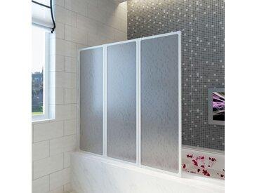 Pare baignoire à 3 volets rétractables 141 x 132 cm - vidaXL