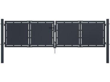 Portail de jardin Acier 300 x 75 cm Anthracite - vidaXL