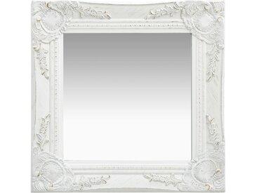 Miroir mural style baroque 40x40 cm Blanc - vidaXL