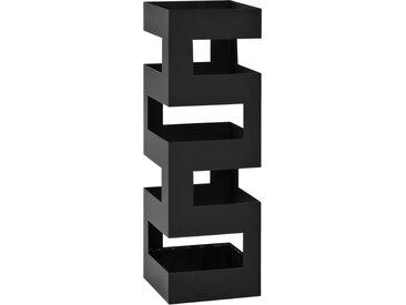 Porte-parapluie Tetris Acier Noir  - vidaXL