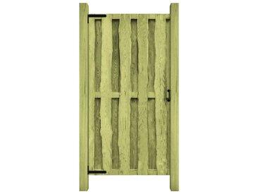 Portillon Bois de pin imprégné FSC 100 x 197 cm Vert - vidaXL