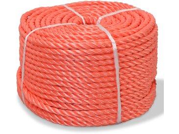 Corde torsadée Polypropylène 14 mm 100 m Orange - vidaXL