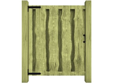 Portillon Bois de pin imprégné 100 x 125 cm Vert - vidaXL