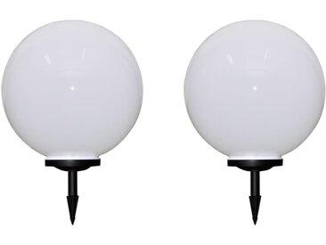 2 pcs Lampes d'allée d'extérieur à LED 50 cm et piquet au sol - vidaXL
