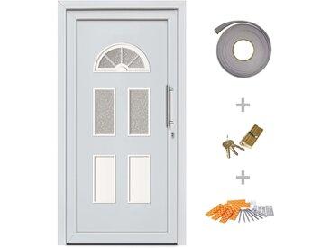 Porte d'entrée principale Blanc 88x190 cm - vidaXL