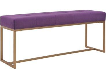Banc 120 cm Violet Velours - vidaXL