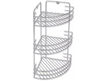 Étagère de douche d'angle murale 3 niveaux - vidaXL