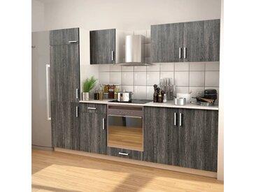 Ensemble d'armoires de cuisine 7 pcs avec hotte Aspect wengé - vidaXL