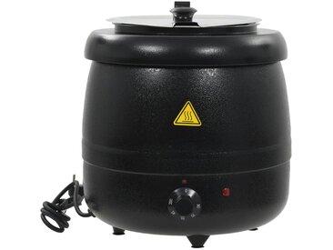 Marmite à soupe électrique Aluminium 10 L 400 W 34x34x37 cm - vidaXL