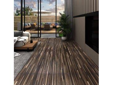 Planches de plancher PVC 5,02 m² 2 mm Autoadhésif Marron rayé - vidaXL