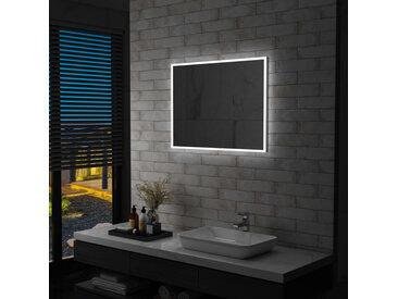 Miroir mural à LED pour salle de bains 80 x 60 cm - vidaXL