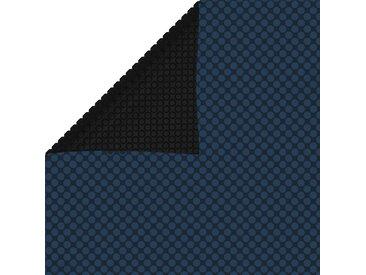Film solaire de piscine flottant PE 1200x600 cm Noir et bleu - vidaXL