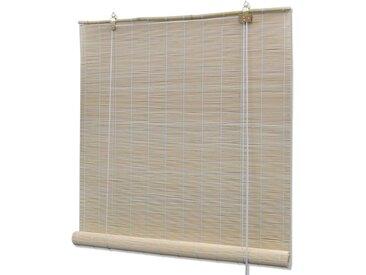 Store roulant en bambou 80 x 220 cm Naturel - vidaXL