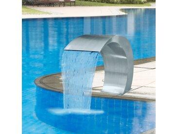 Fontaine cascade de piscine Acier inoxydable 45 x 30 x 60 cm   - vidaXL