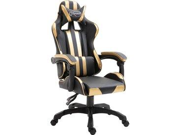Chaise de jeu Doré PU - vidaXL
