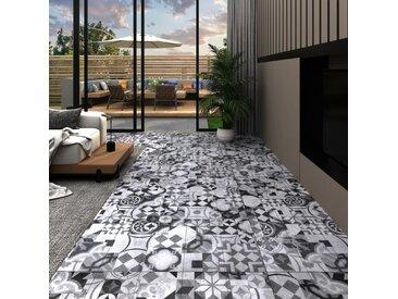 Planches de plancher PVC 4,46 m² 3 mm Autoadhésif Motif de gris - vidaXL