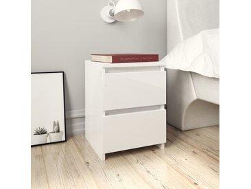 Table de chevet Blanc brillant 30 x 30 x 40 cm Aggloméré - vidaXL