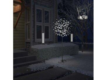 Sapin de Noël 200 LED blanc froid Cerisier en fleurs 180 cm - vidaXL