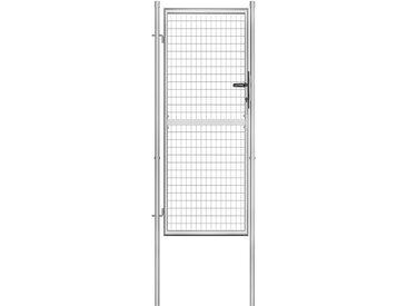 Porte de jardin Acier galvanisé 105x250 cm Argenté - vidaXL