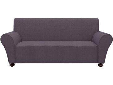 Housse extensible de canapé Anthracite Jersey polyester - vidaXL