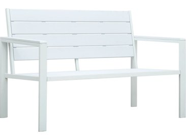 Banc de jardin 120 cm PEHD Blanc Aspect de bois - vidaXL