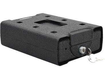 Coffre-fort de voiture Noir 21,8x16x7 cm Acier  - vidaXL
