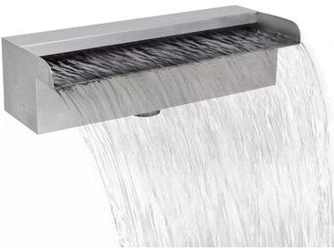 Lame d'eau rectangulaire 30 cm Acier inoxydable pour piscine - vidaXL