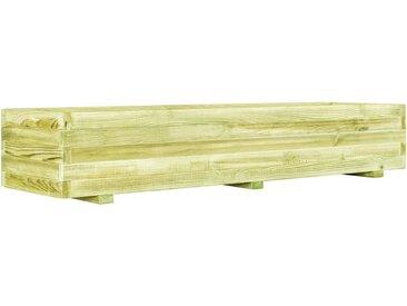 Jardinière surélevée de légumes Bois de pin imprégné 150 cm - vidaXL