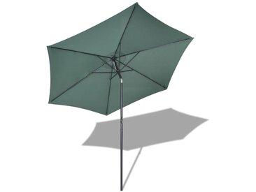 Parasol de jardin 3 m Vert - vidaXL