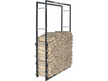Portant de bois de chauffage Noir 80x25x150 cm Acier - vidaXL