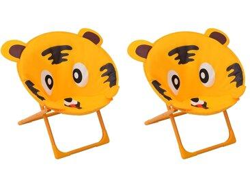 Chaises de jardin pour enfants 2 pcs Jaune Tissu - vidaXL