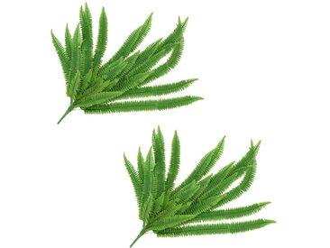 2 pcs Feuilles artificielles de fougère Vert 120 cm - vidaXL