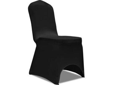Housse de chaise extensible 100 pcs Noir  - vidaXL